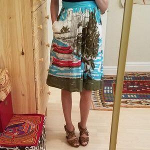 Anthropologie We ❤ Vera 50s Inspired Retro Skirt 2